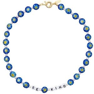 """Be kind"" glass bead necklace"